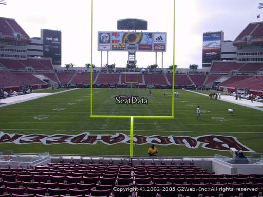 Seat view from section 148 at Raymond James Stadium, home of the Tampa Bay Buccaneers