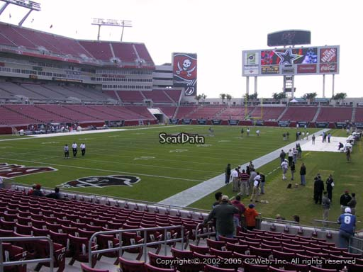 Seat view from section 151 at Raymond James Stadium, home of the Tampa Bay Buccaneers