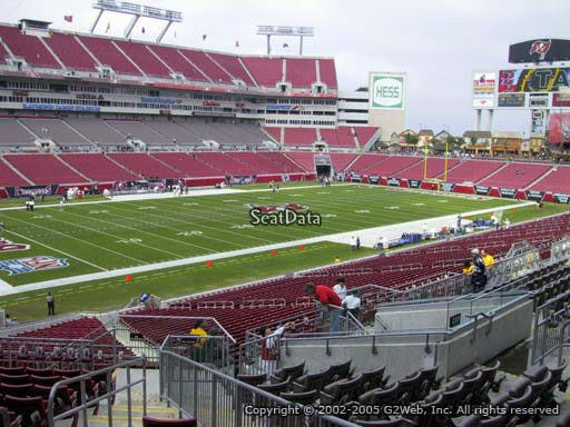 Seat view from section 229 at Raymond James Stadium, home of the Tampa Bay Buccaneers
