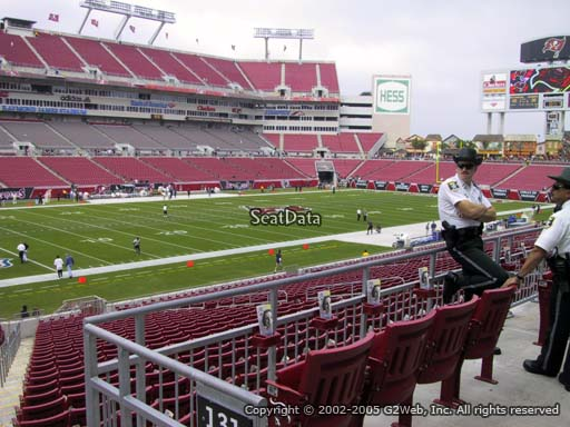 Seat view from section 230 at Raymond James Stadium, home of the Tampa Bay Buccaneers