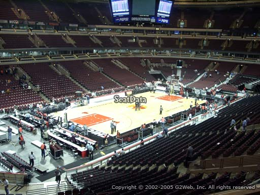 Seat view from section 222 at the United Center, home of the Chicago Bulls