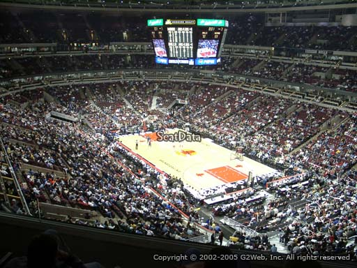 Seat View from Section 329 at the United Center | Chicago ...