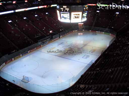 Seat view from section 307 at the Bell Centre, home of the Montreal Canadiens