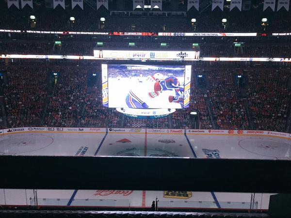 View from the Blanc Level Seats at the Bell Centre