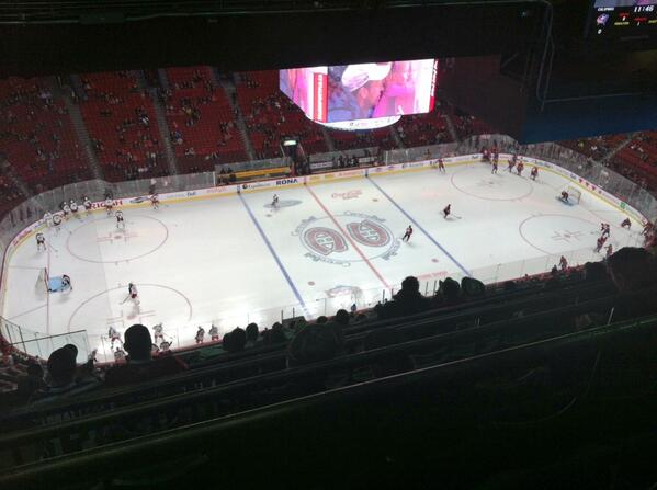 View from the Blue Level at Bell Centre