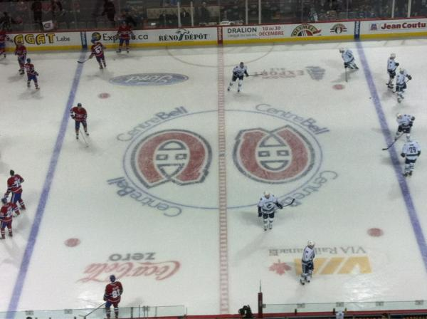 View from the Grey Level at the Bell Centre