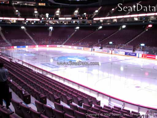 Seat view from section 103 at Rogers Arena, home of the Vancouver Canucks