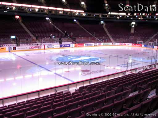 Seat view from section 108 at Rogers Arena, home of the Vancouver Canucks