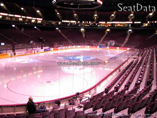 Seat view from section 110 at Rogers Arena, home of the Vancouver Canucks