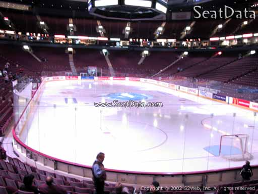 Seat view from section 113 at Rogers Arena, home of the Vancouver Canucks