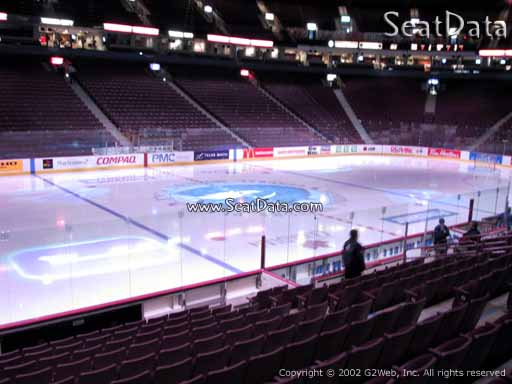 Seat view from section 118 at Rogers Arena, home of the Vancouver Canucks
