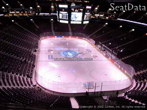 Seat view from section 301 at Rogers Arena, home of the Vancouver Canucks