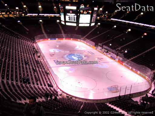 Seat view from section 302 at Rogers Arena, home of the Vancouver Canucks