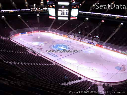 Seat view from section 304 at Rogers Arena, home of the Vancouver Canucks