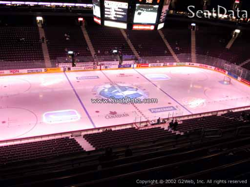 Seat view from section 309 at Rogers Arena, home of the Vancouver Canucks