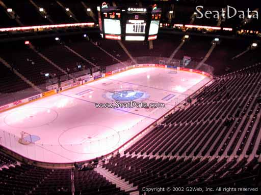 Seat view from section 312 at Rogers Arena, home of the Vancouver Canucks