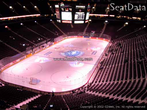 Seat view from section 313 at Rogers Arena, home of the Vancouver Canucks