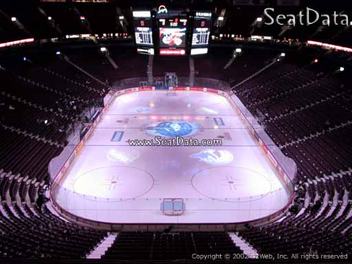 Seat view from section 315 at Rogers Arena, home of the Vancouver Canucks