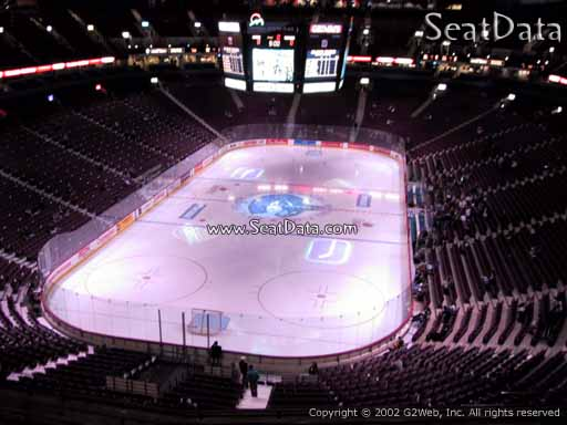 Seat view from section 329 at Rogers Arena, home of the Vancouver Canucks