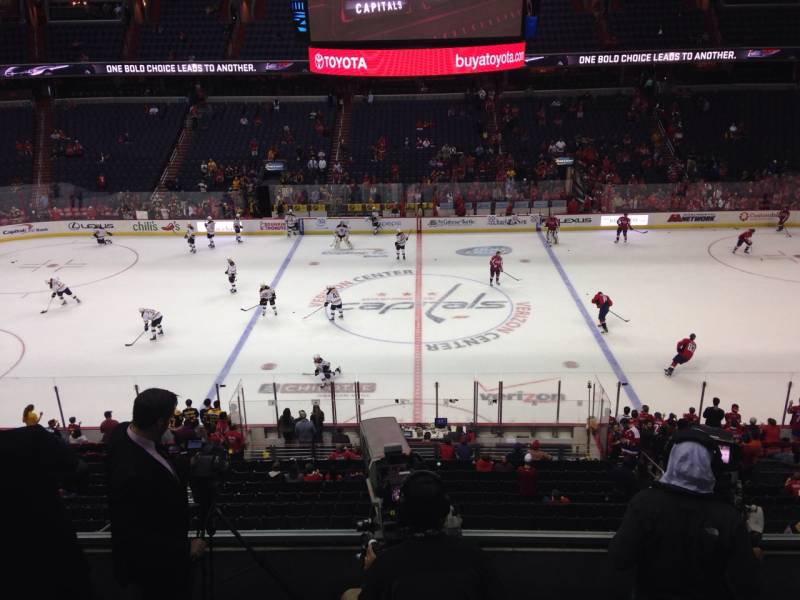 Seat view from section 215 at Capital One Arena, home of the Washington Capitals
