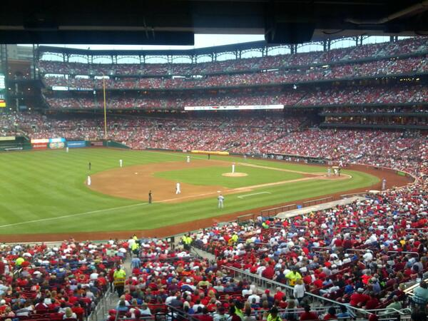 View from the UMB Champions Club at Busch Stadium