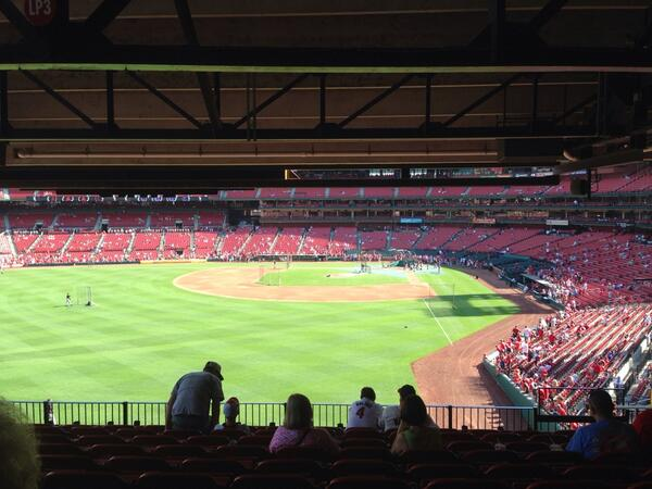 View from the Left Field Porch at Busch Stadium