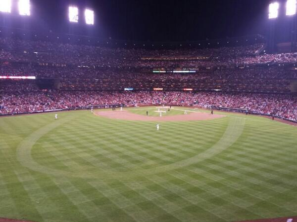 View from the MVP Deck at Busch Stadium