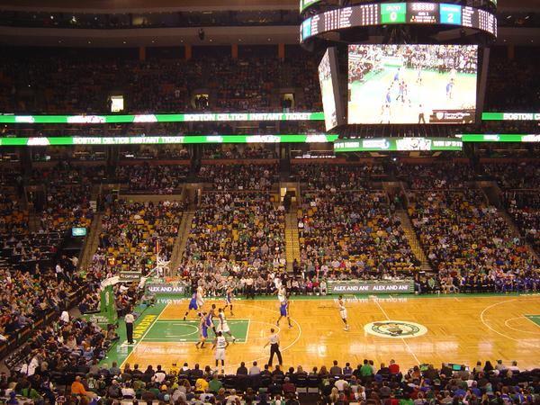 View from Club Section 143 at the TD Banknorth Garden, home of the Boston Celtics