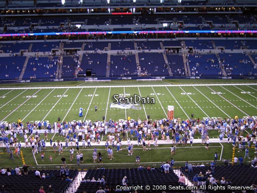 Seat view from section 340 at Lucas Oil Stadium, home of the Indianapolis Colts