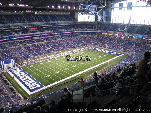 Seat view from section 619 at Lucas Oil Stadium, home of the Indianapolis Colts