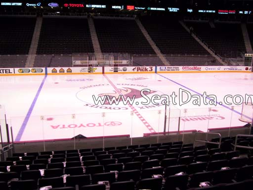 Seat view from section 101 at Gila River Arena, home of the Arizona Coyotes