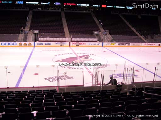 Seat view from section 112 at Gila River Arena, home of the Arizona Coyotes