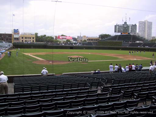 Seat view from section 123 at Wrigley Field, home of the Chicago Cubs