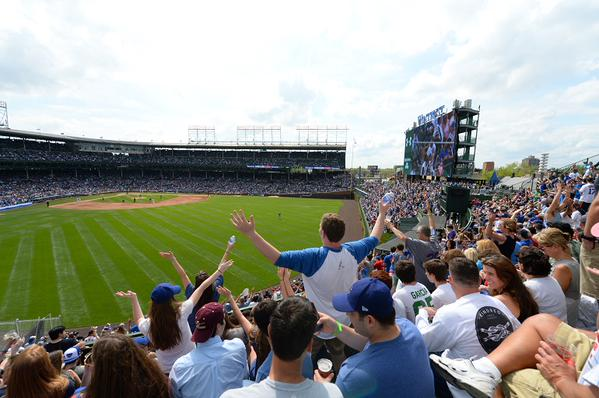 View from the Bleachers at Wrigley Field