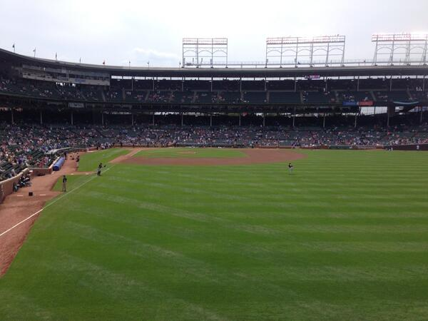 View from the Budweiser Patio at Wrigley Field
