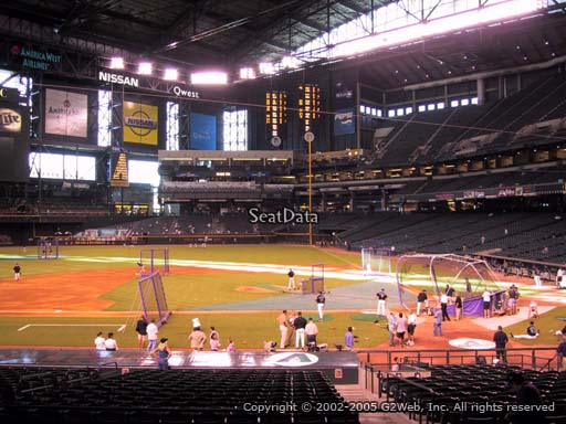 Seat view from section 127 at Chase Field, home of the Arizona Diamondbacks