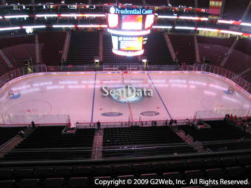 Seat view from section 111 at the Prudential Center, home of the New Jersey Devils
