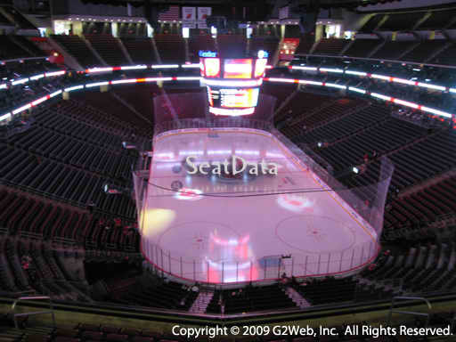 Seat view from section 119 at the Prudential Center, home of the New Jersey Devils