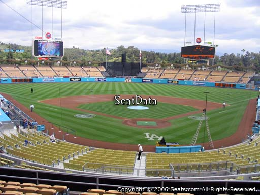 Seat view from loge box section 103 at Dodger Stadium, home of the Los Angeles Dodgers
