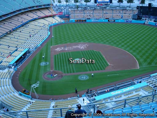 Seat view from top deck section 10 at Dodger Stadium, home of the Los Angeles Dodgers