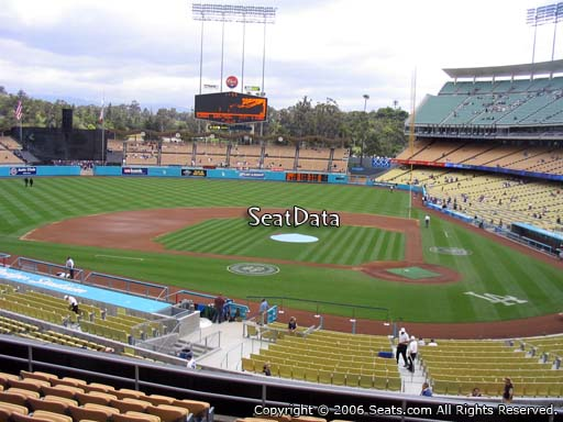 Seat view from loge box section 119 at Dodger Stadium, home of the Los Angeles Dodgers