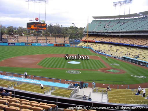 Seat view from loge box section 125 at Dodger Stadium, home of the Los Angeles Dodgers