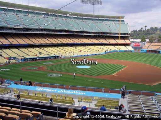 Seat view from loge box section 138 at Dodger Stadium, home of the Los Angeles Dodgers