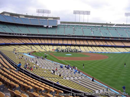 Seat view from loge box section 162 at Dodger Stadium, home of the Los Angeles Dodgers