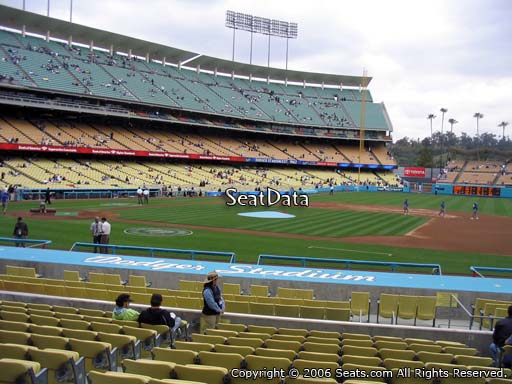 Seat view from field box section 22 at Dodger Stadium, home of the Los Angeles Dodgers