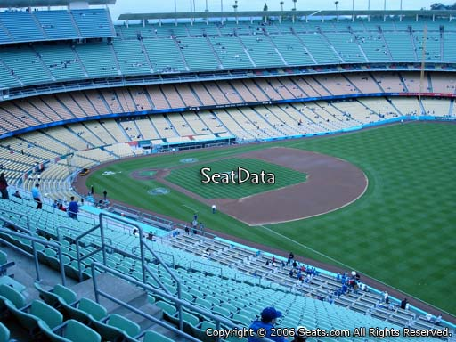 Seat view from reserve section 38 at Dodger Stadium, home of the Los Angeles Dodgers