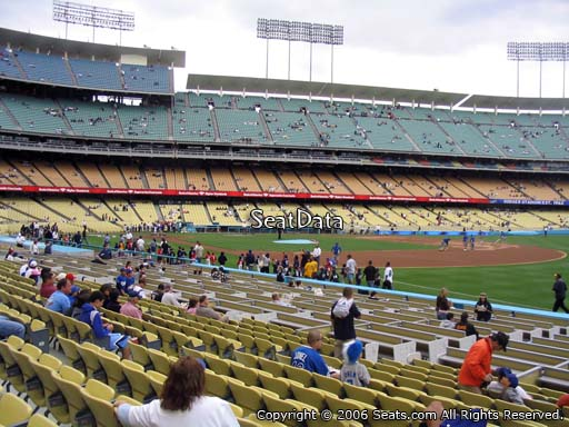 Seat view from field box section 40 at Dodger Stadium, home of the Los Angeles Dodgers