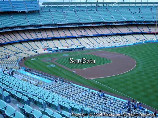 Seat view from reserve section 40 at Dodger Stadium, home of the Los Angeles Dodgers
