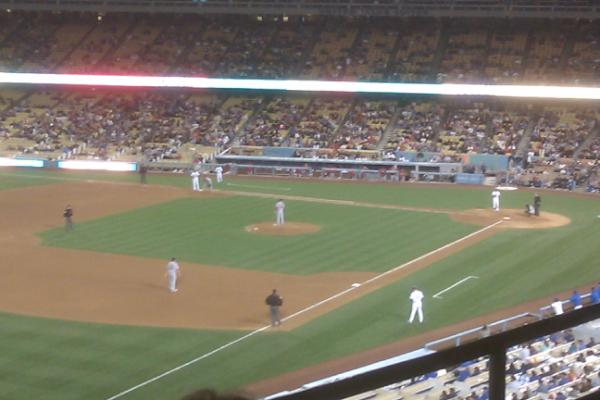 View from the Executive Club at Dodger Stadium