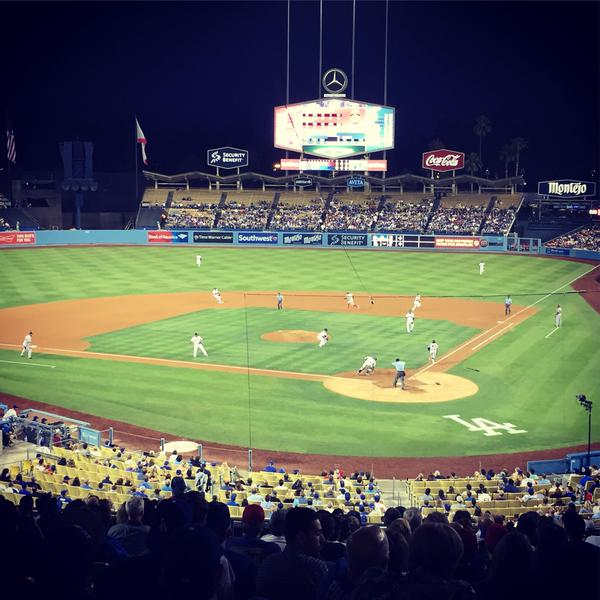 View from the Loge Seats at Dodger Stadium
